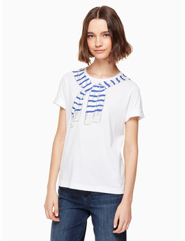 Tromp L'oeil Sweater Tee by Kate Spade