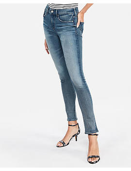 Mid Rise Denim Perfect Stretch+ Skinny Jeans by Express