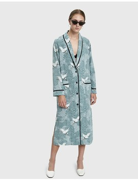Nell Printed Robe Dress by Stelen