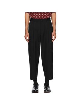 Black Wool Trousers by Comme Des GarÇons Homme Deux