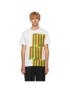 White Graphic T Shirt by Comme Des GarÇons Homme Deux