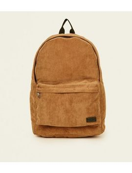 Brown Corduroy Backpack by New Look