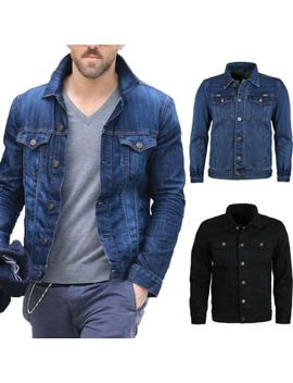 Denim Jackets Vintage Classic Trucker Work Wear Western Stone Wash Jean Coat by Ebay Seller