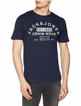 Jack & Jones Men's Jjejeans Print Tee Ss Crew Neck Noos T Shirt by