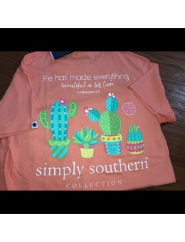Simply Southern He Has Made Everything Cactus TeeNwt by Simply Southern