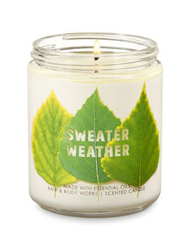 Sweater Weather   Single Wick Candle    by Bath & Body Works