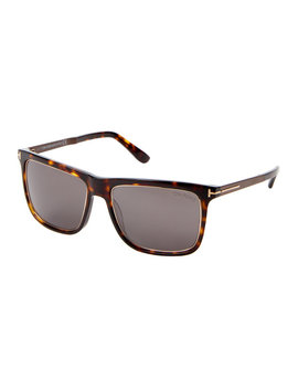 Ft0392 Tortoiseshell Look & Gold Tone Karlie Square Sunglasses by Tom Ford