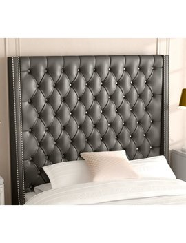 Willa Arlo Interiors Guillaume Modern Upholstered Panel Headboard & Reviews by Willa Arlo Interiors