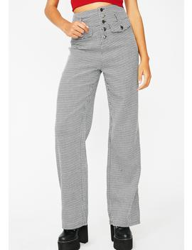 Set The Bar Houndstooth Pants by Wild Honey