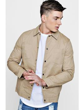 Cotton Twill Coach Jacket by Boohoo
