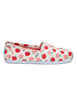 Apples Print Canvas Women's Classics by Toms