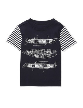 (Infant Boys) Sailboat Blueprint Tee by Andy & Evan