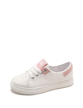 Lace Up Canvas Shoes by Romwe