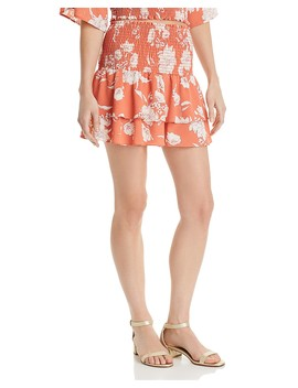 Senora Printed Tiered Mini Skirt   100 Percents Exclusive by Sage The Label