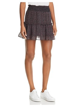 Lillian Tiered Micro Floral Print Skirt by Rebecca Minkoff