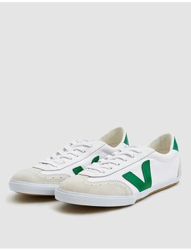 Volley Canvas Sneaker In White Emerald by Veja
