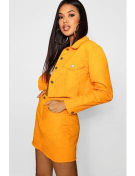 Tangerine Denim Jacket by Boohoo