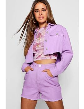 Petite Cropped Trucker Jacket by Boohoo