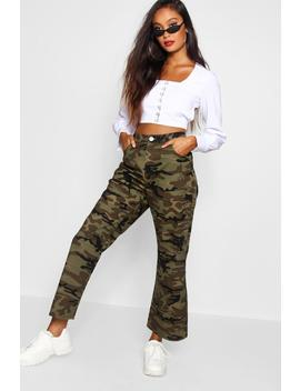 Jeans En Denim Coupe Large Camouflage by Boohoo