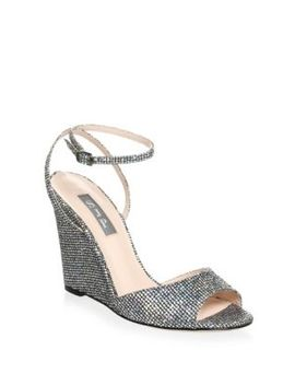 Boca Glitter Wedge Sandals by Sjp By Sarah Jessica Parker