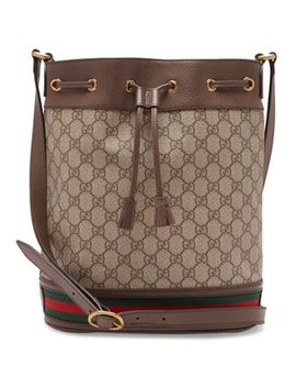 Ophidia Gg Supreme Leather Bucket Bag by Gucci