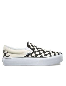Classic Slip On Checkerboard Platform by Vans