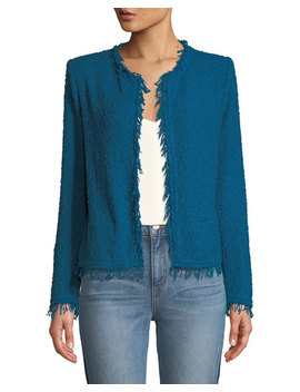 Shavani Frayed Boucle Knit Jacket by Iro