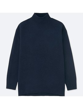 Women Premium Lambswool High Neck Tunic by Uniqlo