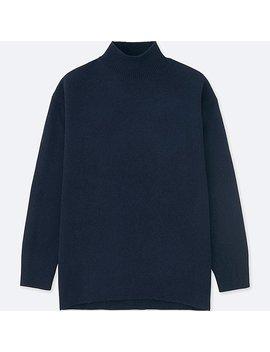 Women Premium Lambswool High Neck Tunic by Uniqlo