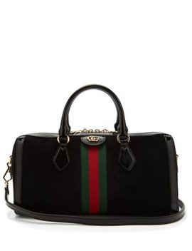 Ophidia Boston Suede Bowling Bag by Gucci