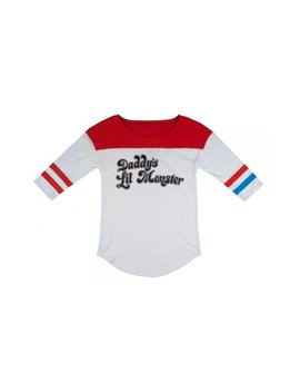 Suicide Squad Harley Quinn Daddy's Lil Monster Raglan Shirt by Bio World