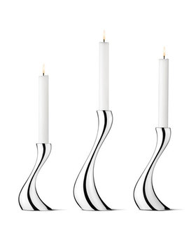 Cobra Candleholders, 3 Piece Set by Georg Jensen
