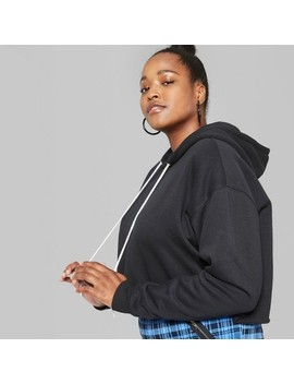 Women's Plus Size Cropped Hoodie   Wild Fable™ Black by Shop All Wild Fable™