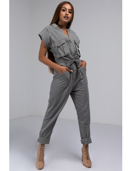 Independent Woman Cargo Jumpsuit by Akira