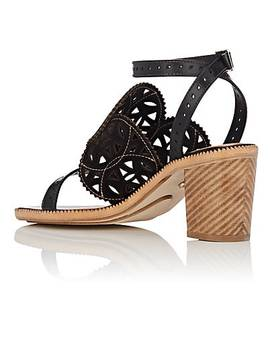 Laser Cut Leather Sandals by Cartujano Espana
