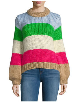 The Julliard Mohair Stiped Sweater by Ganni