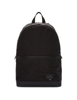 Black Nylon Backpack by Ps By Paul Smith