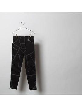 Men's Black Stitched Work Pants by Xander Zhou