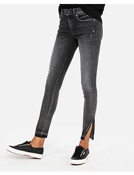 High Waisted Denim Perfect Stretch+ Ankle Jean Leggings by Express