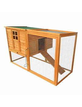 "Paw Hut 66""X44""X40"" Wooden Chicken Coop Rabbit Hutch Backyard Garden Poultry Hen House With Nesting Box And Outdoor Run by Amazon"