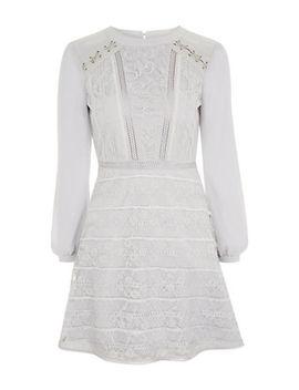 Lace Up Shoulder Mini Dress by Topshop