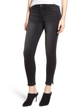 Stud Hem Skinny Ankle Jeans by 1822 Denim
