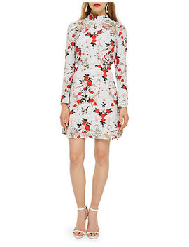 Rose Print Dress by Topshop