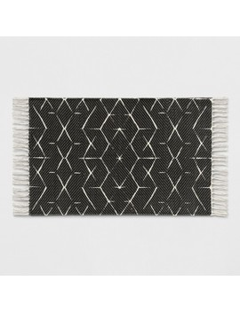 Black Geometric Woven Accent Rugs 2'x3'   Project 62™ by Shop All Project 62™