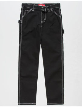 Dickies Relaxed Fit Black Girls Carpenter Pants by Dickies