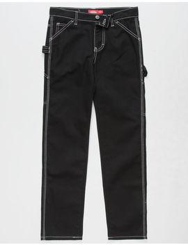 Dickies Relaxed Fit Black Girls Carpenter Pants by Dickies