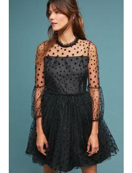 shoshanna-velvet-polka-dot-dress by shoshanna