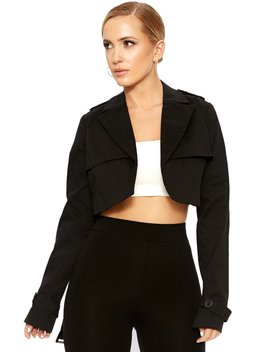 The Cropped Trench Jacket by Naked Wardrobe