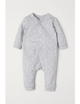 Patterned Jersey Overall by H&M