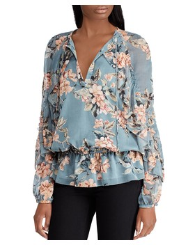 Floral Georgette Top by Lauren Ralph Lauren